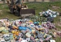 معدومسازی بیش از ۴۹۵ هزار کیلوگرم مواد غذایی غیربهداشتی