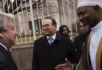 UN chief visits mosque, stresses sanctity of religious sites
