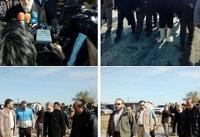 بازدید رییس مجلس از مناطق سیل زده ساری