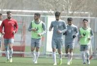 تمرین سبک تیم فوتبال امید پیش از بازی با یمن