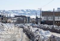 تصاویر/ بارش سنگین و بیسابقه برف در کالپوش شهرستان میامی