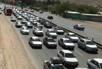کاهش ترافیک در جاده چالوس/ بارش برف در استان مرکزی