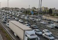 ترافیک نیمه سنگین در آزادراه تهران به کرج