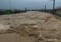 سیلاب محور امام رضا(ع) در شرق تهران را مسدود کرد
