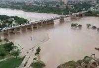 ویدئو / بالا آمدن آب در رودخانه شوشتر
