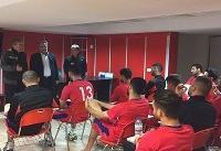 دیدار مدیر عامل باشگاه پرسپولیس با برانکو و بازیکنان