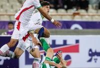 توقف تیم فوتبال امید ایران مقابل عراق در نیمه نخست