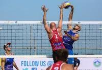 پیروزی تیم والیبال ساحلی ایران برابر سوئد