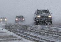 بارش برف در برخی محورهای  آذربایجانشرقی