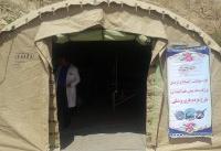 ارائه خدمات در بیمارستان صحرایی پدافند هوایی شهر معمولان
