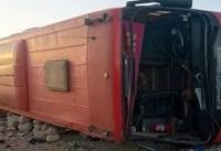 واژگونی اتوبوس تهران ـ مشهد در جاده دامغان شاهرود