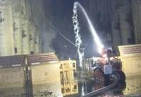 ربات آتشنشانی که به کمک کلیسای نوتردام رفت + فیلم