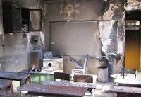 آتش سوزی مدرسه محمودآباد تلفات جانی نداشت