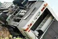 تصاویر | ۵ کشته در واژگونی اتوبوس زائران جمکران