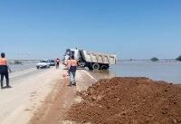 سیلاب جاده اهواز - خرمشهر را بست
