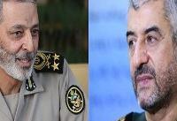 فرمانده کل ارتش انتصاب سردار سرلشکر جعفری را تبریک گفت