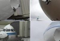 برخورد هواپیمای کویتی با توده یخ