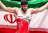 کامران قاسمپور پنجمین طلایی ایران در کشتی آزاد قهرمانی آسیا