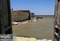 آبگرفتگی روستاهای بخش مرکزی شهرستان شادگان