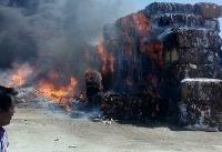 مهار آتش سوزی در انبار ضایعات شهر بنک کنگان
