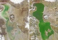 تازهترین تصویر ماهوارهای از ارومیه   جان دوباره دریاچه