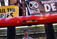 لندن | گزارش و عکس از اقدامات گروه شورش علیه انقراض
