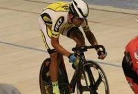درخشش گنج خانلو در مرحله اول لیگ برتر دوچرخه سواری پیست