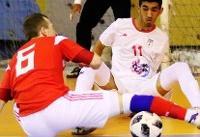 تیم فوتسال زیر ۲۰ سال ایران مقابل تیم لیگ برتری شکست خورد