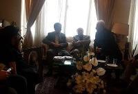 حضور وزیر ارشاد در خانه مرحوم جمشید مشایخی