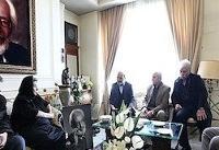 حضور وزیر ارشاد و رئیس رسانه ملی در خانه مرحوم جمشید مشایخی