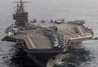 ناو هواپیمابر آبرهام لینکلن در دریای عرب متوقف شده / خلیج فارس از همیشه خالیتر است