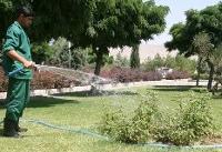 آبیاری فضاهای سبز با پسابهای شهرزیبا و اکباتان