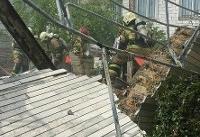 انفجار مهیب در تعمیرگاه تاکنون یک کشته برجای گذاشته است (+تصاویر)