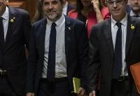 5 Catalan separatist leaders escorted to Spanish Parliament