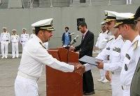 ناوگروه شصتویکم نیروی دریایی ارتش در بندر عباس پهلو گرفت