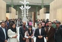 بازدید بهرام قاسمی از بخش ایران نمایشگاه بین المللی فاین کرفت پاریس