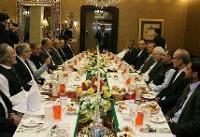 حضور ظریف در ضیافت افطاری همتای پاکستانیاش
