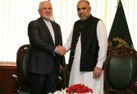 ظریف با رئیس مجلس ملی پاکستان دیدار کرد