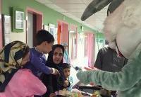 اهدای سبد مهربانی به کودکان مرکز طبی