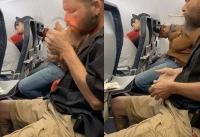 Man lights cigarette on Spirit Airlines flight in startling viral footage