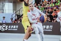دختران بسکتبال سه نفره از صعود به یک چهارم نهایی کاپ آسیا بازماندند