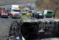 افزایش تعداد مصدومان  واژگونی اتوبوس در پاسارگاد