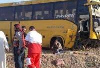 سانحه برای اتوبوس زائران عراقی + تصاویر