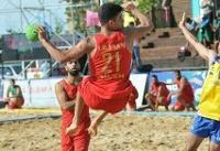 سومین پیروزی تیم ملی هندبال ساحلی در قهرمانی آسیا