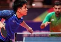 حذف یک بازیکن از ترکیب تیم ملی تنیس روی میز در مسابقات آسیایی