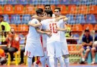 تیم فوتسال امید ایران بابرتری مقابل لبنان راهی نیمه نهایی آسیا شد