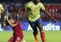 صعود کلمبیا به یک چهارم نهایی کوپا آمه ریکا