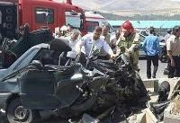 مرگ راننده در پراید له شده +عکس