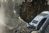 عکس/ ریزش یک ساختمان در خیابان طالقانی تهران/ فوت یک زن