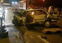 حریق مرگبار خودرو در پی وقوع تصادف در اتوبان تهران-قم